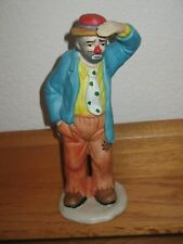 "Emmett Kelly Jr. Figurine, Looking Out, 7"" tall, Flambro , Clowns, Circus"
