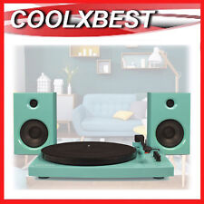 NEW CROSLEY T100 RECORD PLAYER TURNTABLE BLUETOOTH w SPEAKERS 30w TURQUOISE
