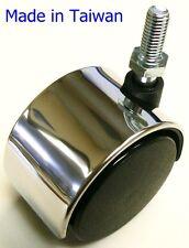 """Oajen 2"""" 50mm chrome chair caster, 4 pack, 1/4"""" - 20 x 1"""" threaded stem"""
