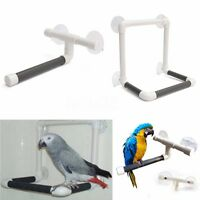 3 Style Pet Parrot Bird Perches Wall Suction Cup Toys Paw Grind Shower Stand