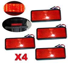 4x LED Red Reflector Tail Brake Stop Marker Light Truck Trailer ATV RV SUV Motor