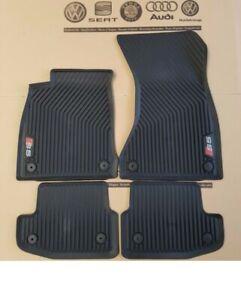 Original A5 Sportback S5 8W (16-21) Rubber Floor Mats All-Weather Carpets Set