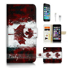 ( For iPhone 7 ) Wallet Case Cover P4145 Canada Flag