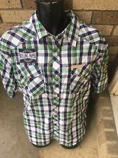 button shirt Rolling Paper Co Short Sleeve  Men's Size XXL  Plaid COOL