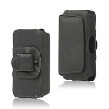Genuine Real Leather Belt Clip Pouch Holster Case Flip Cover Side Button Holder HTC One 2013 M7