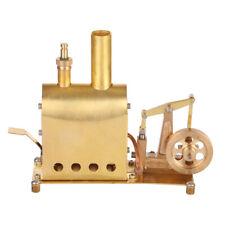 Mini Copper Steam Engine Model with Boiler Creative Gift Set