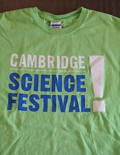 Cambridge Science Festival t-shirt Men's Medium 2016 MIT Nerd Geek Ivy League