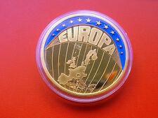 *Europa * ECU 1998 Edel Vergoldet und mit Farbenopplc.*