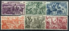 Weeda French Equatorial Africa #C25-C30 MH 1946 issue Chad to Rhine CV $14.70