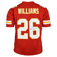 Damien Williams Signed Pro-Edition Red Football Jersey (JSA)
