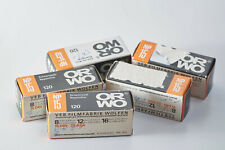 Lot of 3 rolls ORWO NP15 120 ISO 25 B&W Print film lomography expired tested