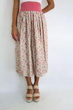 Vintage Old Rose Dainty Printed Midi Skirt Size (S/M)