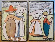 Comic Postcard Set REUBEN, REUBEN & Cynthia Two Cards Song Dutch Couple Udb 1906
