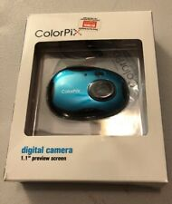 "NEW Color Pix Digital Camera Blue/green Color 1.1"" Preview Screen LW-dc327n"