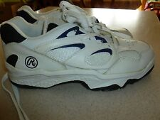 NEW Old Stock RAWLINGS Athletic Shoes Sneakers Mens White sz 9.5D