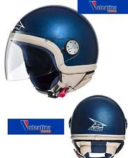CASCO DEMI JET AXO NEW SUBWAY BLU CON BORDO BEIGE MIS. L CON INTERNI LAVABILI