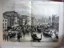 1875 Emperor Of Austria Visits Venice Procession On Grand Canal