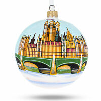 Big Ben, London, Great Britain Glass Ball Christmas Ornament 4 Inches
