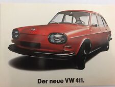Volkswagen The New VW 411 1968 Post Card 1st On eBay Car Postcard. Own It!