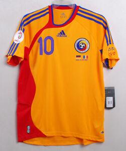 2006-07 ROMANIA Home S/S No.10 MUTU vs Germany 06-07 jersey shirt trikot.