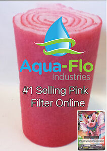 "60"" ROLL WET DRY FILTER FLOSS PADS MEDIA KOI PONDS BONDED + PINKY PIGGY CARD"
