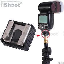Metal Flash Hot Shoe Mount Adapter for Canon Nikon Pentax Metz Nissin Speedlite