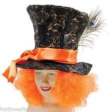 MAD CAPPELLAIO CAPPELLO Arancione Capelli Costume Tea Party Alice nel paese delle meraviglie
