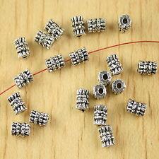 40pcs Tibetan silver studded tube spacer beads H2642