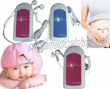 Promotion!!CE approved pocket Baby Fetal Doppler,baby heart beat Monitor FHR+gel