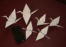 Origami Crane Family - Handmade. White, assorted sizes. Decoration, Craft.