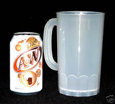 2 - Large Natural(Frosted) Beer Mugs Holds 32 Ounces Made in America Lead Free*
