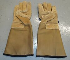 HEX ARMOUR GAUNTLET STEEL LEATHER GLOVES - Size: X-Large , British Military NEW