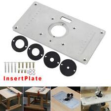 Tondeuse à bois machine toupie table Insert plaque universelle en aluminium