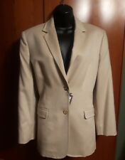 NWT Les Copains Beige Camel Hair Two Button Blazer Jacket Size 44 US M
