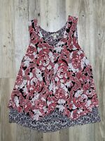 Lucky Brand Floral Sleeveless Tank Top Blouse Women's Size X-Small GREAT & CLEAN