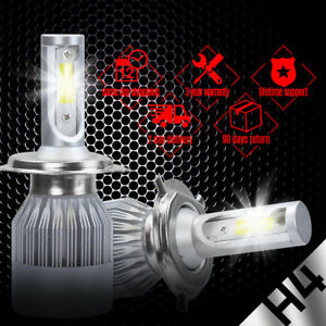 12V Super Bright White Car Fog Light Headlight H4 33-LED SMD Driving Lamp Bulb