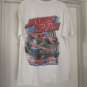 NASCAR Modified James Civali #79 Coors Light Adult (XL) Graphic T-Shirt NWOT