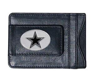 Dallas Cowboys - NFL - Leather Money Clip - Black Wallet