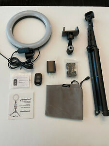 """UBeesize 8"""" Selfie Ring Light with Extendable Tripod Stand with Accessories"""
