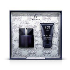 Thierry Mugler Alien Man - Gift Set With 50ml Refillable EDT Spray, 50ml Hair &