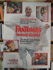 FANTOMAS BEDROHT DIE WELT Filmplakat Poster JEAN MARAIS Louis de Funès 1966