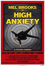HIGH ANXIETY Movie POSTER 27x40 Mel Brooks Madeline Kahn Cloris Leachman Harvey