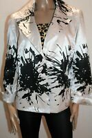 JANE LAMERTON Brand Cream Black Floral Long Sleeve Jacket Size 16 BNWT #JA74