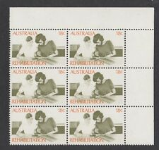 1972-75 18¢ Rehabilitation SG 515 two varieties in a MUH right corner block of 6