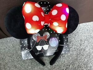 Minnie Mouse Light Up Headband Girls Childrens Disney