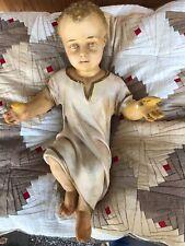 Alte Krippe,Jesuskind,Jesus-Figur aus Gips, Spendenaktion