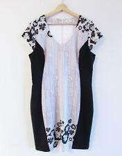 Alannah Hill Size 16 The Prettiest Pansie Frock Cap Sleeve Floral Sheath Dress