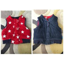 Toby Tiger Reversible Gilet, Navy And Red/white Star Print 2-3 Years
