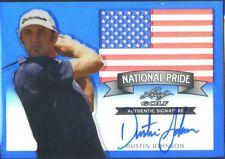 2011 Leaf Metal National Pride Blue Autograph Dustin Johnson /10 SSP Rookie