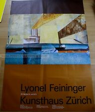SWISS EXHIBITION LARGE XXL POSTER 1973 - LYONEL FEININGER * ART PRINT